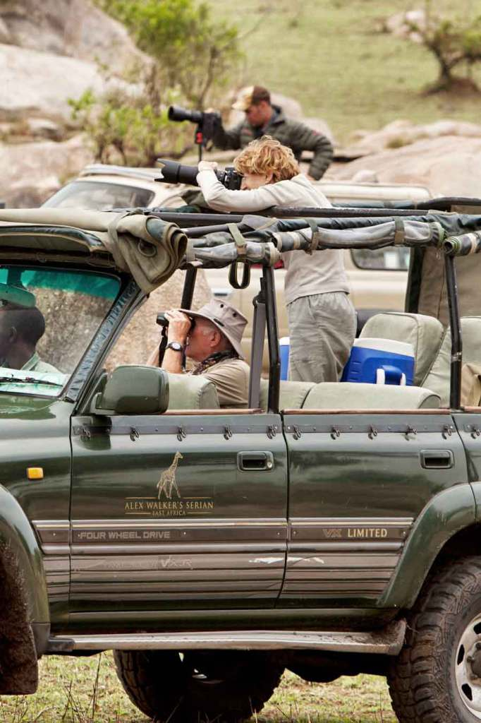 A game drive in the Serengeti.